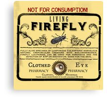 Living Firefly - Steampunk Apothecary Label Canvas Print