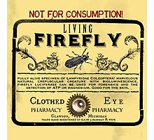 Living Firefly - Steampunk Apothecary Label Photographic Print