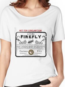 Living Firefly - Steampunk Apothecary Label Women's Relaxed Fit T-Shirt