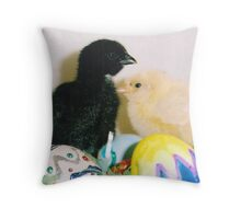 MORE EASTER CHICKS Throw Pillow
