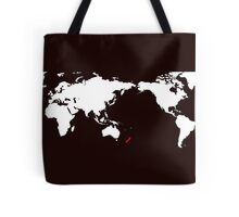 World Map New Zealand Tote Bag