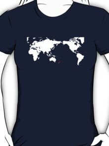 World Map New Zealand T-Shirt