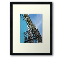 Blue Sky and Building Framed Print