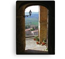 Pienza in Tuscany Canvas Print