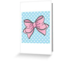 Lacy Bow Greeting Card
