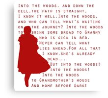 Into The Woods: Little Red Riding Hood  Canvas Print
