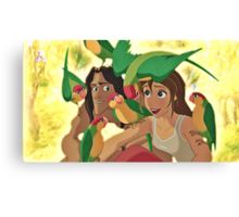 Tarzan & Jane Canvas Print