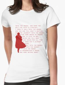 Into The Woods: Little Red Riding Hood  Womens Fitted T-Shirt