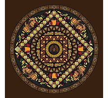 Thanksgiving Icons Mandala Photographic Print