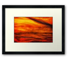 Abstract stirred sunset Framed Print