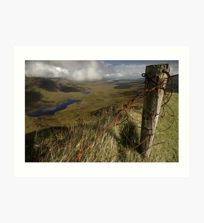 Rusty old fence at the Conor Pass Art Print