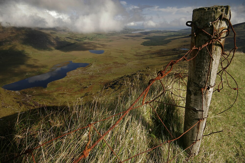 Rusty old fence at the Conor Pass by Donncha O Caoimh