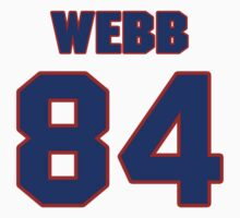 National football player Martell Webb jersey 84 by imsport