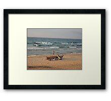Malawi fisherman Framed Print