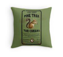 Pine Tree Tar Cordial - Steampunk Apothecary Label Throw Pillow