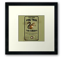 Pine Tree Tar Cordial - Steampunk Apothecary Label Framed Print