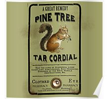 Pine Tree Tar Cordial - Steampunk Apothecary Label Poster