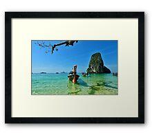 paradisiac landscape Framed Print
