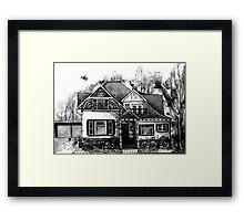 Doodle House Pen and Ink Framed Print