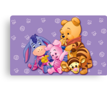 Baby Winnie The Pooh, Tigger, & Piglet Canvas Print