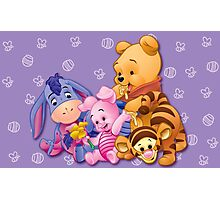 Baby Winnie The Pooh, Tigger, & Piglet Photographic Print