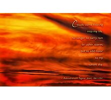 Color my sunset skies Rabindranath Tagore Photographic Print