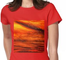 Color my sunset skies Rabindranath Tagore Womens Fitted T-Shirt