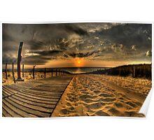 landscape sand Poster