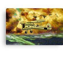British Swordfish Biplane WWII  Canvas Print