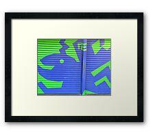 GARAGE DOOR MURAL Framed Print