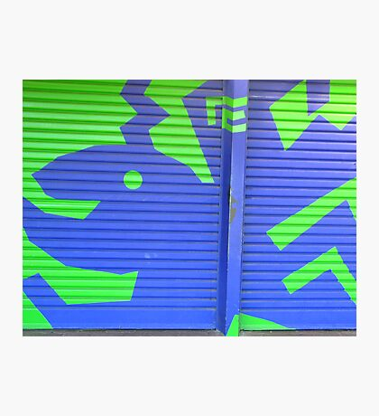 GARAGE DOOR MURAL Photographic Print