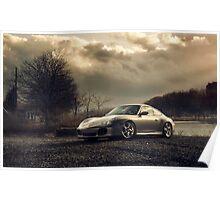 landscape Porsche  Poster