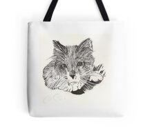 Indian Ink Cat Tote Bag