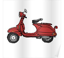 Marsala Scooter Poster