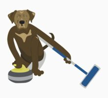 Chocolate Lab Curling Kids Clothes