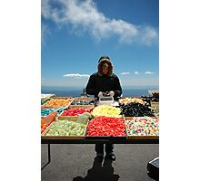 selling sweets in the cold Photographic Print