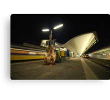 rotterdam central station at night Canvas Print