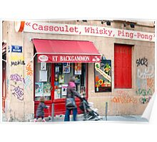 Cassoulet, Whiskey, Ping-Pong Poster