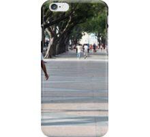 Prado, beautiful Havana street and pedestrian walkway  iPhone Case/Skin