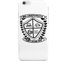 Bad Creepypasta COA (B&W) iPhone Case/Skin