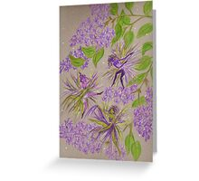 french lilacs Greeting Card