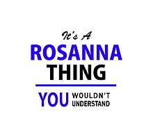 It's a ROSANNA thing, you wouldn't understand !! by thestarmaker