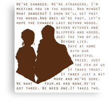 Into The Woods: Baker & His Wife Metal Print