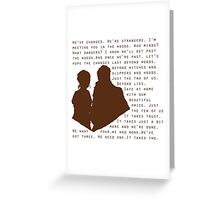 Into The Woods: Baker & His Wife Greeting Card