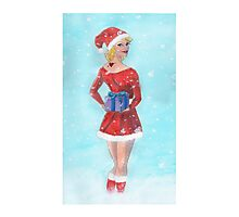 Christmas girl Photographic Print