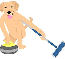 Golden Retriever Curling by pounddesigns