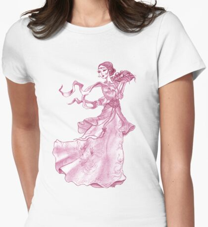 oriental girl Womens Fitted T-Shirt