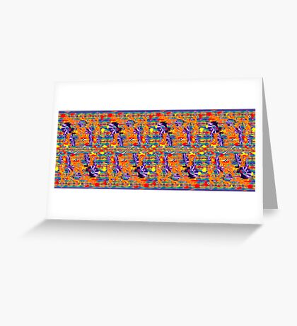 Coloured Satin . Greeting Card