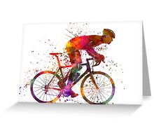 cyclist road bicycle Greeting Card