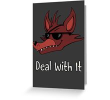 Five Nights at Freddy's Foxy Deal With It Greeting Card